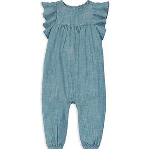 Ralph Lauren infant girl chambray outfit
